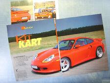 AUTO998-RITAGLIO/CLIPPING/NEWS-1998-PORSCHE 911 TECHART - 3 fogli