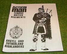 VINTAGE ACTION MAN 40th Loose Argyll /& Sutherland-Glengarry SCALA 1//6