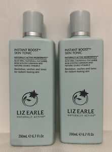 2 X 200m Liz Earle Instant Boost Skin Tonic. Revitalises, Soothes And Tones.