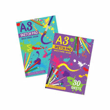 A3 30 Sheet Sketch Pad - Large Plain Book Sketching Drawing Painting Artist