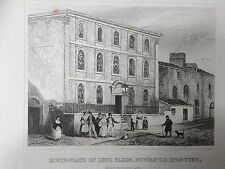 Impresión c.1845; cuna de Lord Eldon, Newcastle, Northumberland