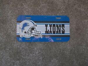 Detroit Lions NFL Plastic License Plate New