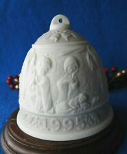 Lladro 1995 9th Annual Christmas Bell Porcelain Ornament Retired