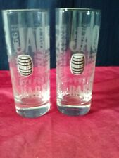 NEW Lot of 2 Jack Daniels Old No 7 Tall Glasses High Ball