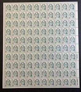 US #2183 28c Sitting Bull. Full Sheet of 100, MNH VF-XF (CV $105)