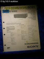 Sony Service Manual STR DE445 /DE545 /SE501 FM/AM Receiver (#5268)