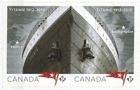 CANADA 2012 MNH Sinking of Titanic Cent.Pair