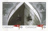 CANADA 2012 MNH Sinking of Titanic Cent.Pair