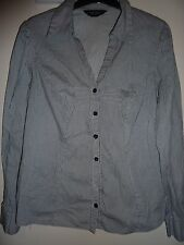 Dorothy Perkins striped blue long sleeved shirt. Size 12