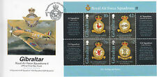 Gibraltar 2013 FDC RAF Squadrons II 4v M/S Cover Royal Air Force Emblems Stamps