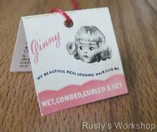 1950's Vogue doll Ginny Doll Curler Wrist hang Tag (Reproduction)