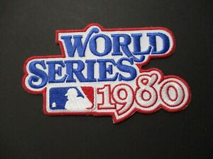 World Series 1980 Phillies Patch Size 2.75 x 4.5 inches MLB Logo Sticky Back