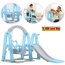 Kids Indoor/Outdoor Playground Hide & Seek Climber Swing and Slide Play Set NEW