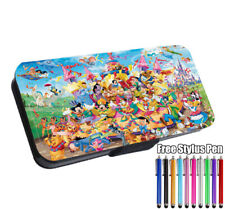 Many Disney Characters Mickey Flip Phone Case Cover for iPhone Samsung Huawei