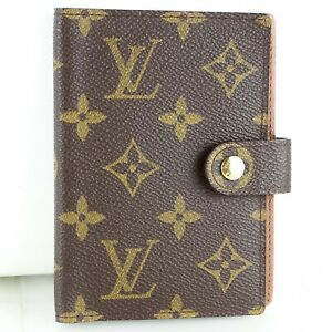 Auth LOUIS VUITTON ETUI PALM PDA Cover Case Monogram Canvas M63028 Brown