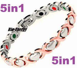 TITANIUM Magnetic GERMANIUM Energy  Armband  Power Bracelet Health JADE 5in1 Bio