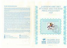 GERMANY DEUTSCHE BUNDESPOST 1989 HUMANITARIAN RELIEF FUND POSTAL DELIVERIES VFU
