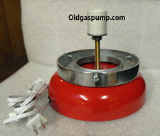 Gas Pump Globe Red Lighted Lamp Base GD-103A
