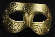 Mens Adult Gold Masquerade Greek Roman Facial Mask For Fancy Dress Masked Ball