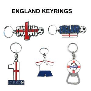 England Football World Cup Key Ring Tag Soccer Souvenir