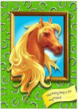 6 Pony Vacío Partido Bolsas-Juguete botín wedding/kids plástico claro