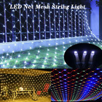 Mesh LED String Fairy Lights Net Curtain Garden Party Wedding Decoration Outdoor
