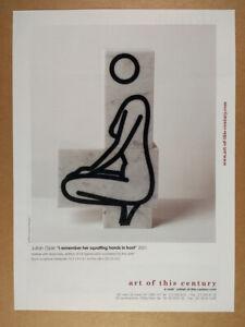 2001 Julian Opie Sculpture Art of This Century vintage print Ad