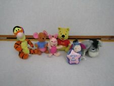 Mattel Disney Winnie the Pooh Bean Bag Plush Stuffed Tigger Eeyore Piglet Lot