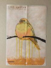 SAGE VAUGHN, Folded exhibition poster, Lazarides gallery, 2011