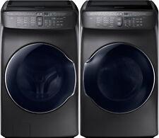 Samsung Black Stainless Flex Washer & Electric Dryer WV55M9600AV and DVE55M9600V