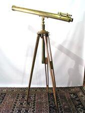 C 1900 Inch Refracting Telescope by E. Vion, Paris; w/ Oak Tripod & Walnut Case