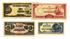 4 diff. countries WW2 Japanese invasion money Burma, Malaya, NEI, Philippines