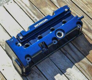 Honda K24 K20 type r accord civic rsx valve cover Powder Coated ROYAL BLUE
