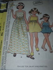1974 McCALL'S #3980- GIRLS RETRO TOP - THREE LENGTH SKIRT & PANTIES PATTERN 2 FF