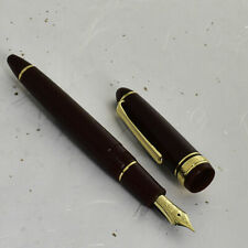 New SAILOR 1911 Standard Dark Red & Gold 21K Gold M Nib Fountain Pen