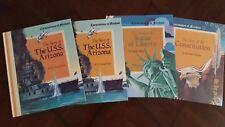 Cornerstones of Freedom 4 Book Lot USS Arizona, Statue of Liberty & Constitution