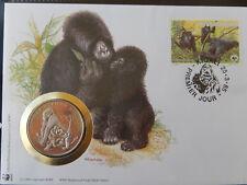 Numisbrief 30 Jahre WWF 1985 Rwanda  Berggorilla