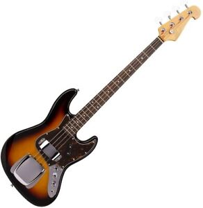 Electric Bass Guitar Jazz Style in Sunburst with Gig Bag Model 86943T by SX