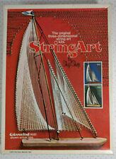 Vintage 1975 3D String Art Kit by Ship Shop Crosswind Blue #9052 Open Box