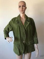 b976b8bb79e Ashley Stewart Green 100% Cotton Corduroy Jacket Coat Blazer Plus Size 16W  1X