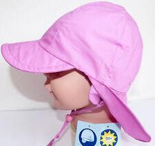 KU 47 48 49 UV Schutz Nacken Ohren, Mädchen Sonne Sommer CAP Hut Sterntaler,rosa