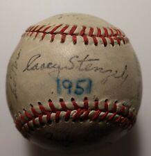 1951 New York Yankees Facsimile Signed Baseball