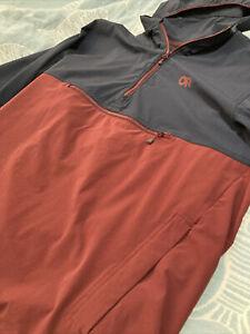 New Outdoor Research Ferrosi Anorak Jacket - Men's Small Navy Blue / Maroon