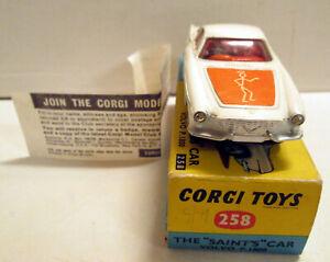 Corgi Toys 258 The Saint's Volvo P. 1800,   rare,     original
