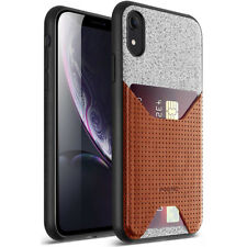 """For Apple iPhone XR 6.1"""" LCD Display Poetic Nubuck Cover【Thin TPU】Case Brown"""