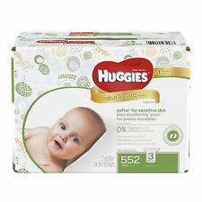 Huggies Natural Care Baby Wipes, Unscented, 3 Refills (648 Count)
