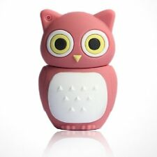 USB Stick 16 GB Eule Uhu Schmuck Anhänger Kauz Gufo Owl Chouette pink rosa