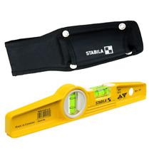 Genuine STABILA 81SM Magnetic Level + Scaffolders Holster 10inch 250mm