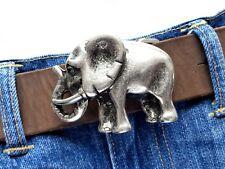 Gürtelschließe Elefant buckle Silber Afrika Safari Wechselschnalle 4cm