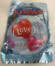 """I Love You Qualatex 22"""" Bubble Balloon Look Valentines Day"""